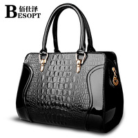 2014 female handbag crocodile pattern handbag women's bridal bag marry bag messenger bag