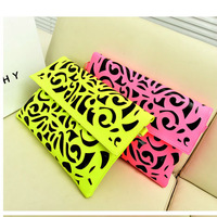 Fashion neon 2013 day clutch one shoulder cross-body women's handbag envelope fashion big bags