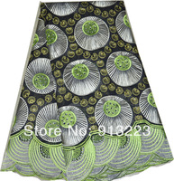 African Hand Cut Voile Lace Fabric,Swiss Voile Lace High Quality,Wedding Lace,100% Cotton Free Shipping NL437S