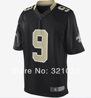 Free shipping #9 brees Jersey Cheap game football jerseys  Wholesale SAINTS