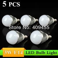 Wholesale(5pieces/lot)Led Bulb E14 3w 4w 5w 6w 7w 9w lights AC85-265V Warm/White LED Light Bulb Lamp