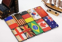 Free Shipping 50pcs/lot Vintage Flag Pattern Hard Case cover  for iPhone 4 / 4S