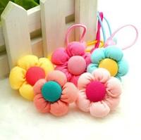 fashion flower baby girls hair rope ,kids elastic hair bands.baby hair accessories
