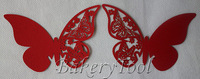 96 pcs red butterfly shaped bars cup cards laser cut glass cup and packaging decorative boxes for wedding