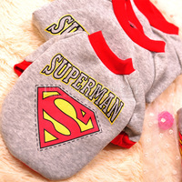 2014 pet clothes super man loading clothing spring and autumn teddy dog clothes,pet products,free shipping