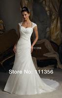 Wholesale or Retail New 2013 White/Ivory Organza Wedding Dress Custom Size:6 8 10 12 14 16