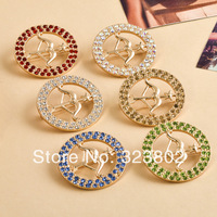 Gold Plated Sagittarius Brooches With Crystal Rhinestone