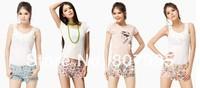 Hot new summer hot pants Japanese sweet retro Saika printing women's shorts