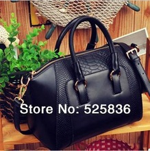 2014 New women handbag fashion brief crocodile pattern women shoulder bag women messenger bag women leather handbag wholesale(China (Mainland))