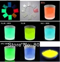 2014 hot sale 1000g glow in dark luminescent photoluminescent pigment,luminous powder 6 color choose