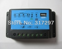 Free Shipping! 1pc/lot 10A 12V USB 5V PWM Solar Charge Controller Solar Controller Solar Regulator