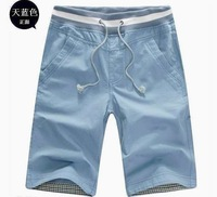 5 colors new fashion men's cotton solid casual sports shorts short pants trousers blue gray khaki  M-XXL  #k102