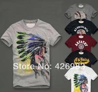 Men's T Shirt Print Sewing Short Sleeve Cotton T-shirts Male Quality Fashion Brand Design  Slim T shirt For Men,Free shipping