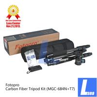 Fotopro Professional Travel MG Series Carbon Fiber Tripod Kit Lsea Center (MGC-684N+T7)