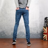 Russia Brazil 2014 pure blue elastic slim men's clothing jeans casual male fashion 111 Wholesale Promotion
