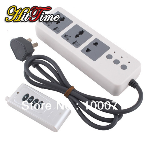 Energy Saving Remote Control Extension Lead Socket 3 Channel 3 Way w/ Remote [11587|01|01](China (Mainland))
