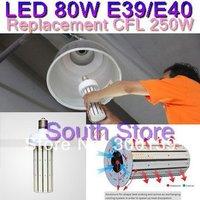 DHL 80W E39 E40 LED Corn Light Warehouse Bulb 800Pcs SMD 2835 Cold White Lamp AC 110V~275V 360 Degree 6Pcs/Lot, Free Shipping