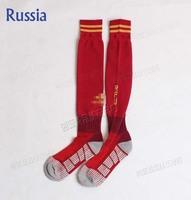 free shipping A+++ 2014 New russia Soccer Socks Football Socks Kits Thailand Quality Thick Bottom