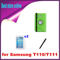 4 in 1 Original 360 Rotating Leather Stand Case Cover for Samsung Galaxy Tab 3 Lite 7.0 T110 T111 Free Shipping