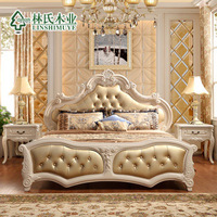 modern imitation sheepskin bed,france style sofa bed, luxury france pastoral bed,1.8m*2.2m, in-home delivery by boat ,DDUservice