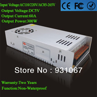 Supernova Sale 5V Led Power Supply 60A 300w Led Driver Indoor switch power supply 110/220V For Strip Or Modules Lamp 1pcs/lot