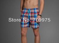 2014 100% cotton men brand short men beach shorts plaid hot sale factory wholesale free shipping