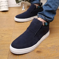 Trend men's spring boys casual shoes elevator shoes nubuck leather pedal shoes lazy male skateboarding shoes