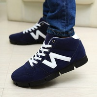 Spring single shoes trend male casual shoes high-top shoes Men skateboarding shoes male shoes