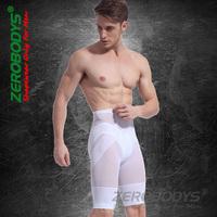 Retail White Black Men's Althletic Squeem Waist Cincher Underwear Slimming Body Girdles Shaping Shorts
