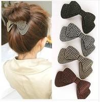 Free shipping 3pcs/lot Elegant bowknot hair clips High-end women hair accessories Great Barrette Fashion Hairgrips Hair wear