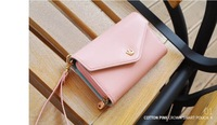 Promotion! Free shipping 2014 new multifunction women wallets,envelope messenger bag case Purse for iphone 4/5/4s