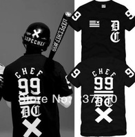 Free shipping 2014 new sale chef 99 male hiphop skateboard short-sleeve T-shirt men clothing t shirt men 100% cotton 6 color