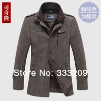 2014 New Fashion Wool & Blends Brand Men Suits Dress Winter Coats & Jackets Casual Long Thicken Wool Coat Warm Men's Clothing