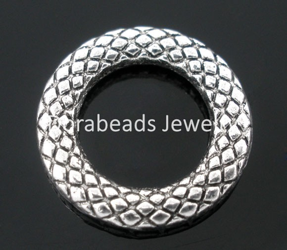 hot- 50 PCs Antique Silver Soldered Closed Jump Rings 14mm Dia.Findings (B03781)(China (Mainland))