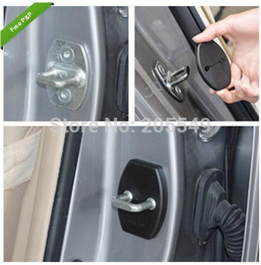 Car door lock cover Exterior car stickers decorative For Mitsubishi Lancer EX Galant Lancer 4 pcs set free shipping(China (Mainland))