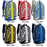2014 new fashion print backpack women small female backpack Trend skeleton printing backpack Halloween Waterproof