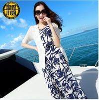 Miss holiday art van beach skirt Bohemian chiffon dress summer dresses seaside on dress