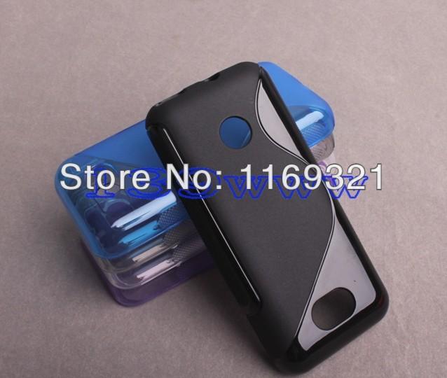 20pcs/lot free shipping Soft TPU Gel S line TPU Skin Cover Case For Nokia Lumia 208(China (Mainland))