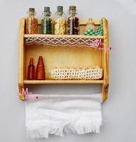 1/12 scare Dollhouse Miniature Kitchen Wood Spice rack EGG