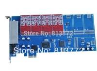 Free Shipping 8 ports asterisk PIC-E card,elastix fxo card,Newest TDM800E dual modules FXO_200 / FXS_200