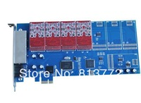 Free Shipping 8 ports asterisk PIC-E card,elastix fxo card,Newest TDM800E dual modules FXO_200 / FXS_200