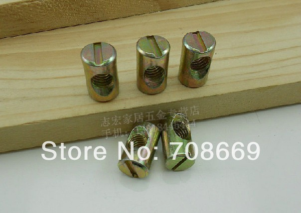 10pcs SHIPPING Barrel Bolts For Beds Cribs Chairs M6 6x15mm Cross Dowel Slot
