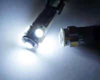10 pieces / lot E10 12V VOLT 5 SMD 1447 style Screw LED Lamp Light Bulb MOTOR BIKE White Light