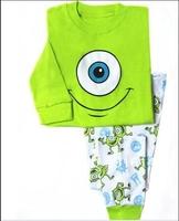 Children's pajamas boys girls long sleeve cotton pajamas kids tshirt+pant set free shipping XA-08