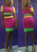 2014 Women Celeb Ladies sexy  Bodycon Slim Pencil Fit High Waist Skirt Crop Bandage Cheap