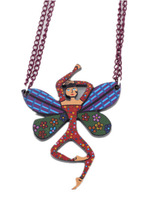 2 pcs/ lot wholesale funny dancing girl butterfly pendants necklace for girl retro necklace 2014 vintage jewelry current jewelry