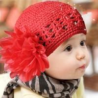 Flower princess wig child toe cap covering cap baby cutout pocket hat big flower hat
