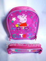 1pcs Peppa Pig Children's School Bags Backpacks Schoolbag Backpack Peppa Pig George Pepe  Of The Girls Free Shipped