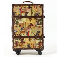 Vintage travel bag trolley luggage male women's handbag suitcase universal luggage wheels 20 22 24 inch fashion bags