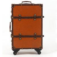 Fashion brown letter trolley luggage travel bag universal wheels luggage bag female 20 22 24 luggage